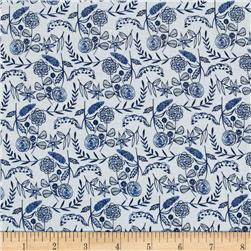 Cloud 9 Organic Moody Blues Floral White