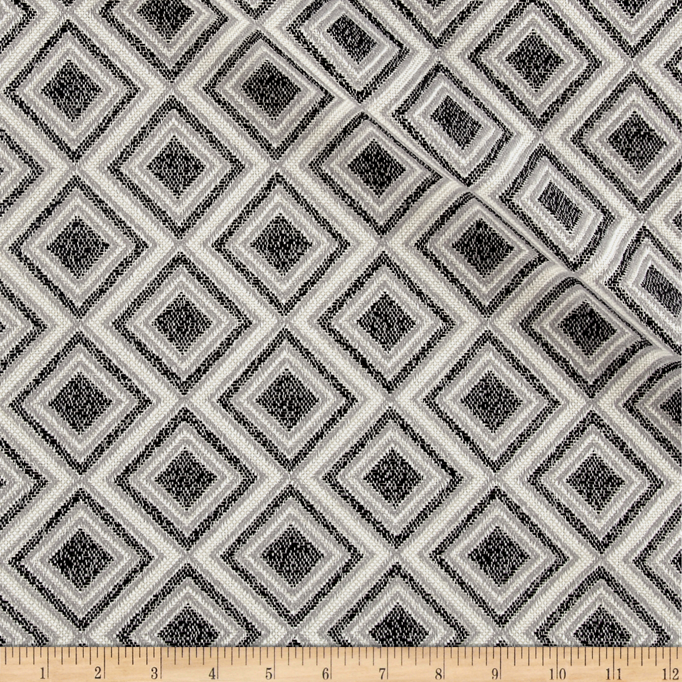 Kelly Ripa Home Chenille Jacquard Game On Ebony Fabric by Waverly in USA