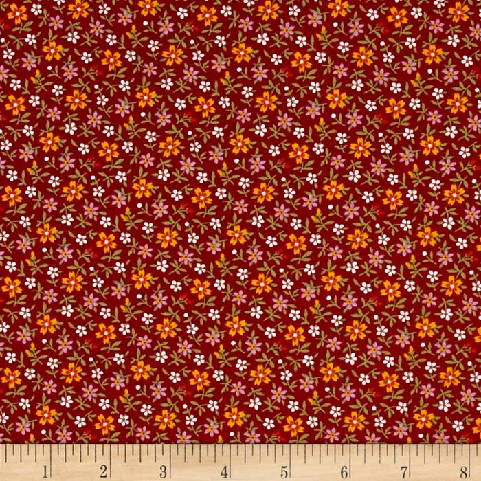 Little House On The Prairie Daisy Stem Red
