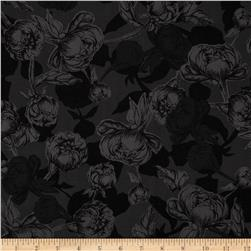 Le Jardin Packed Floral Grey/Black