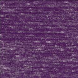 Tri-Blend Distressed Jersey Knit Heather Deep Purple