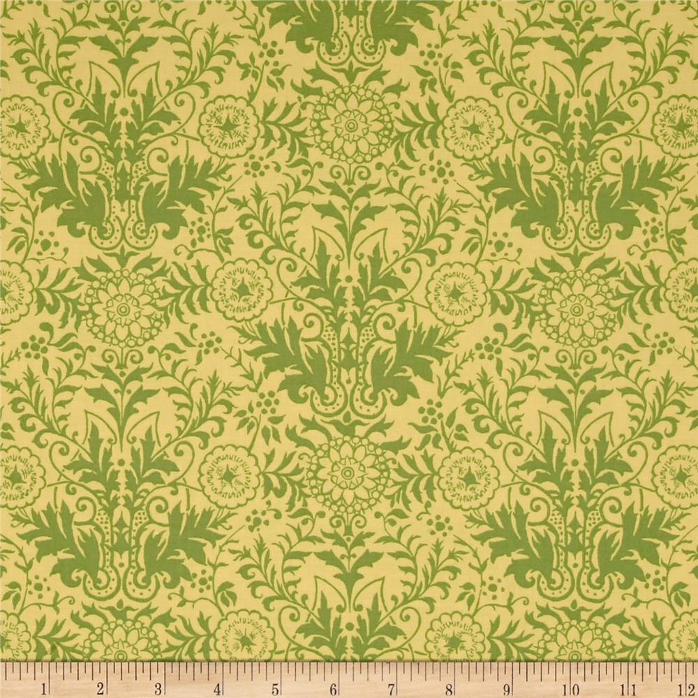 Ink & Arrow Willow Damask Gold/Olive