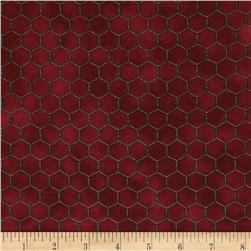 Cream of the Crop Honeycomb Burgundy