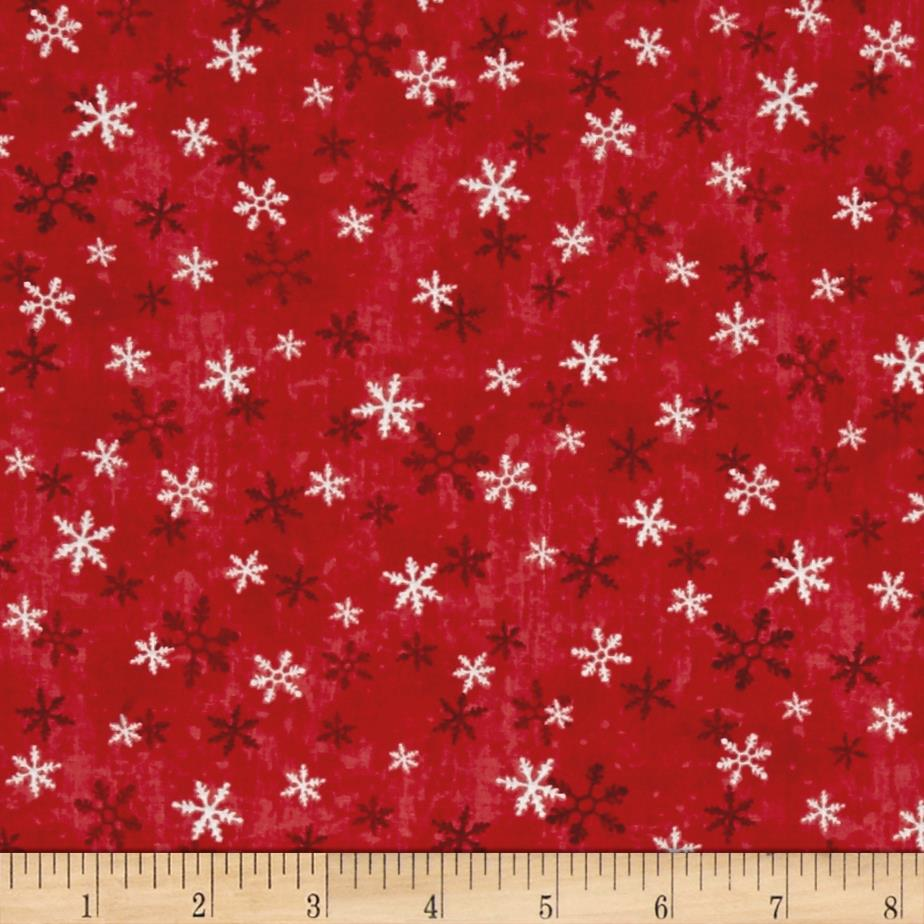 Home For The Holidays Snowflake Red