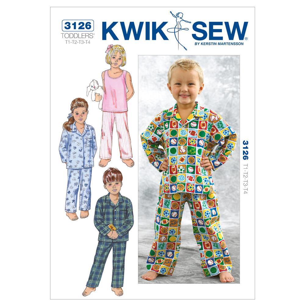 Kwik Sew Toddlers Sleepwear Pattern Discount Designer Fabric