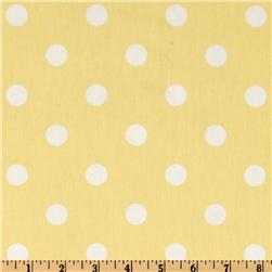 Premier Prints Polka Dots Twill Lucy Yellow/White Fabric