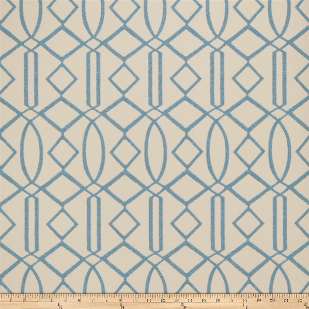 Fabricut 50029w Egyptian Wallpaper Turquoise 06 (Double Roll)