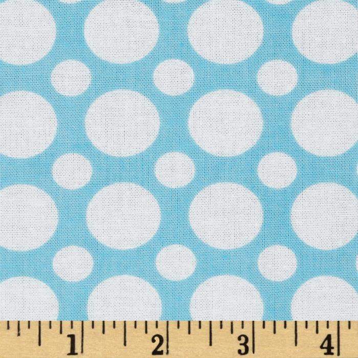 Kaufman Spot On Large Dot Aqua