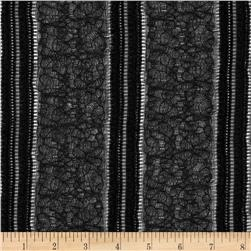 Novelty Lace Stripes Black