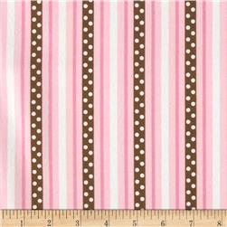 Cozy Cotton Flannel Ticking Stripe Garden Fabric