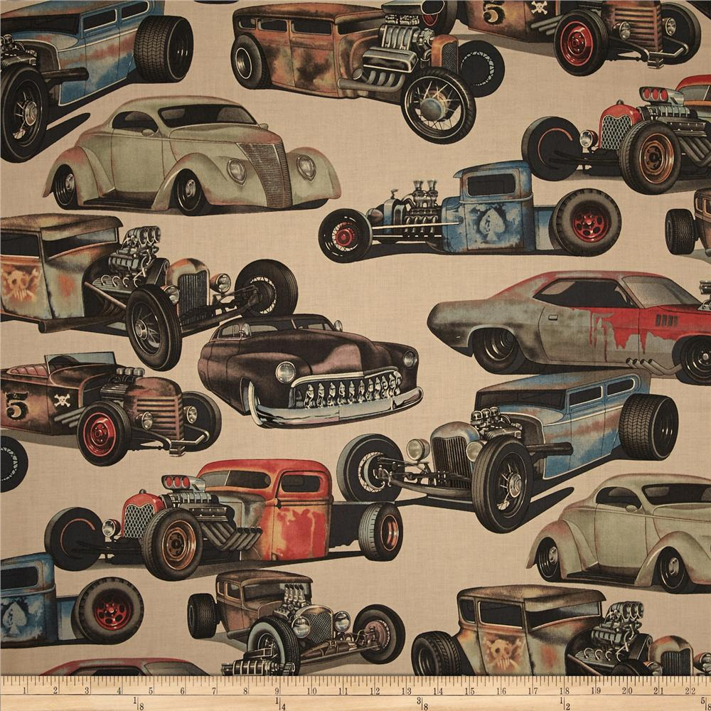 Alexander Henry Nicole's Prints Rat Rods Taupe
