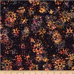 Island Batik Holiday Snowflake Black
