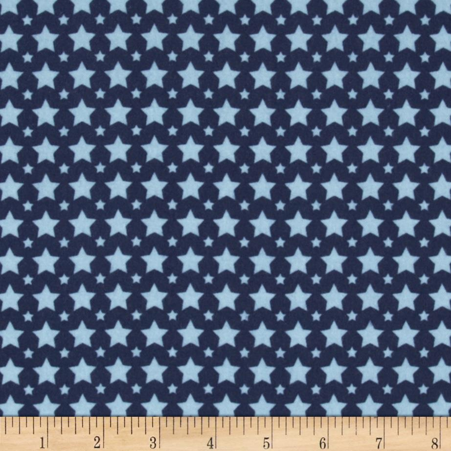 Riley Blake One For The Boys Flannel Stars Blue