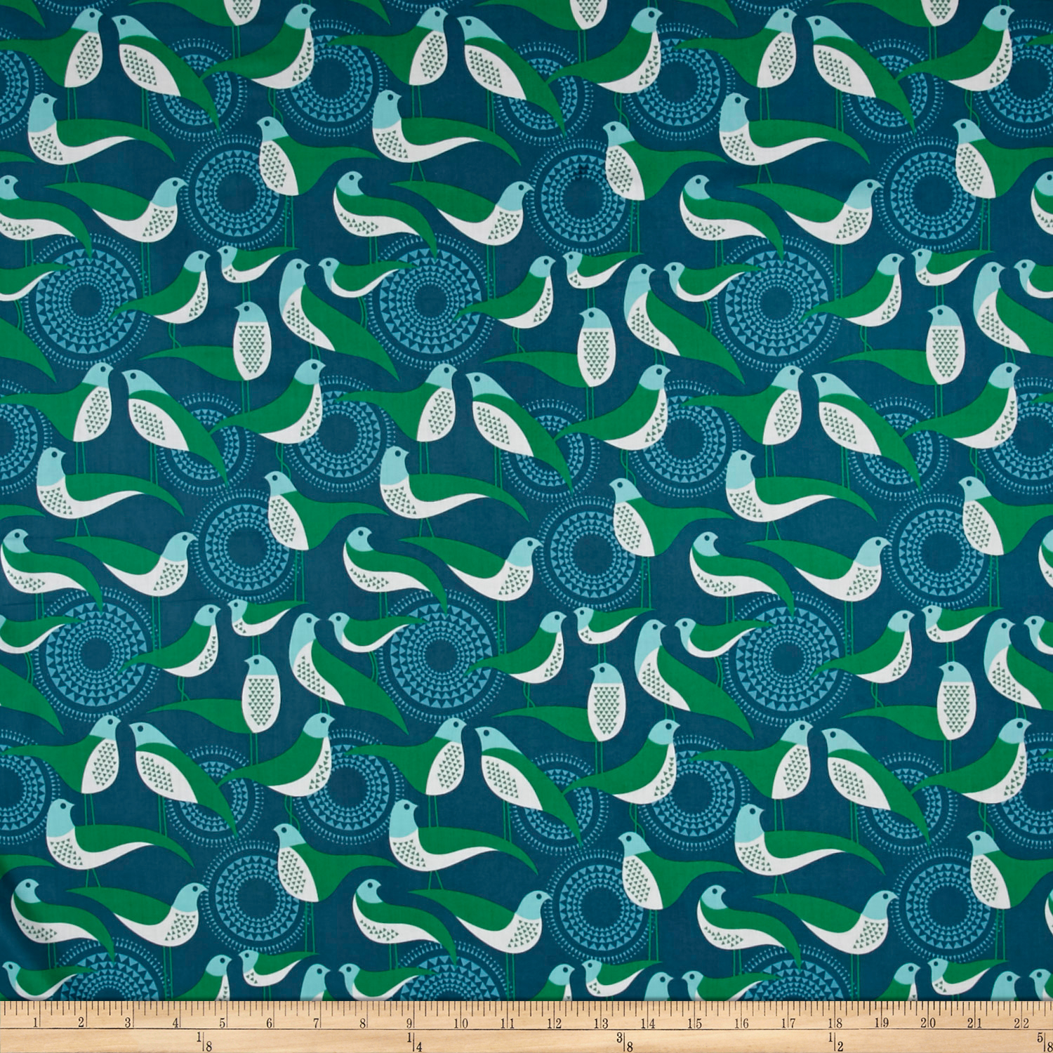 Joel Dewberry Modernist Voile Perch Peacock Fabric by Westminster in USA