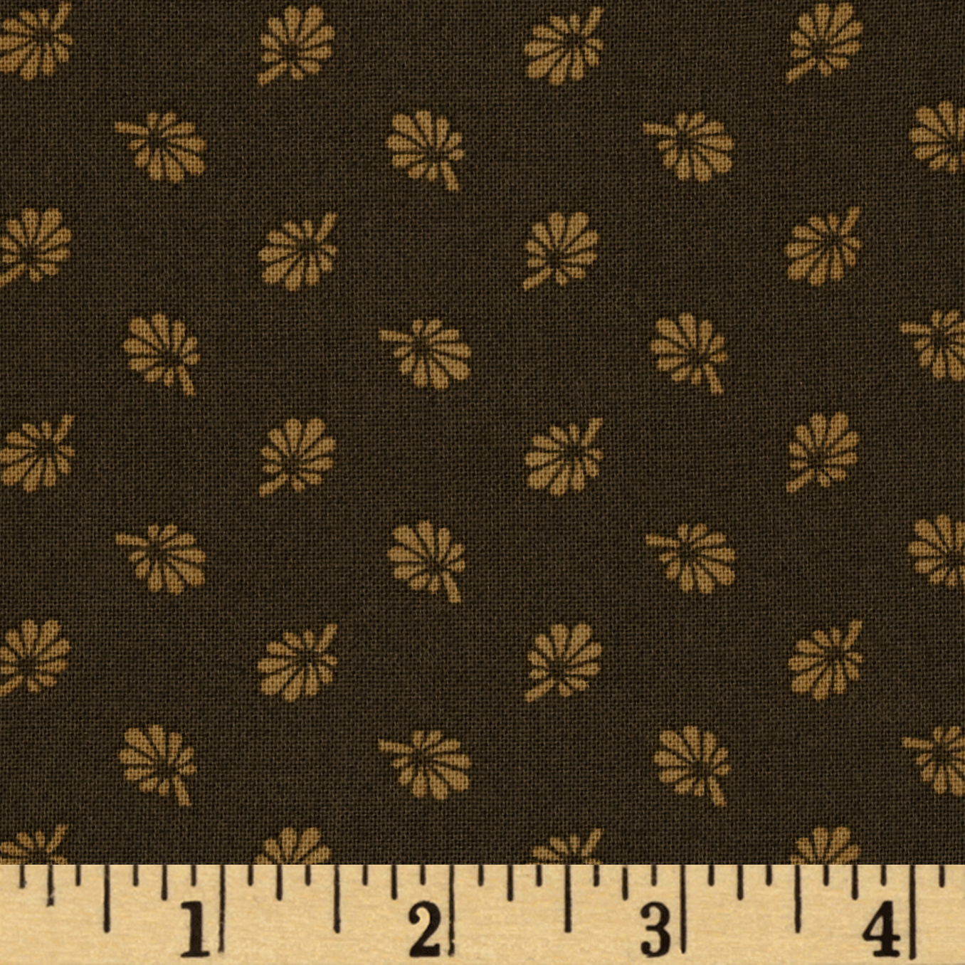 Tavern Collection Tossed Leaves Brown Fabric