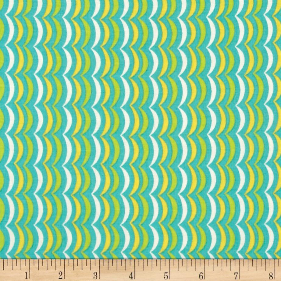 Moda Apple Jack Scallop Stripe Aqua