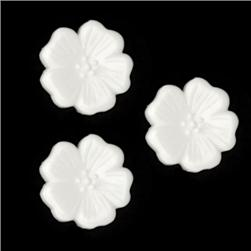 Novelty Button 5/8'' Dogwood White
