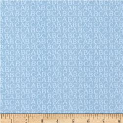 Comfy Flannel Alphabet Blue