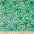 Batik by Mirah Day Cruise Seahorses Water Lime