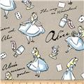 Disney Flannel Alice In Wonderland Grey