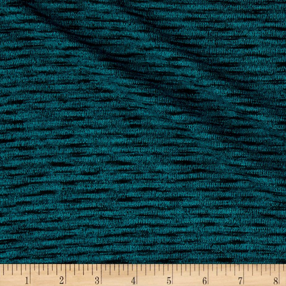 Sweater Hatchi Knit Two Tone Teal