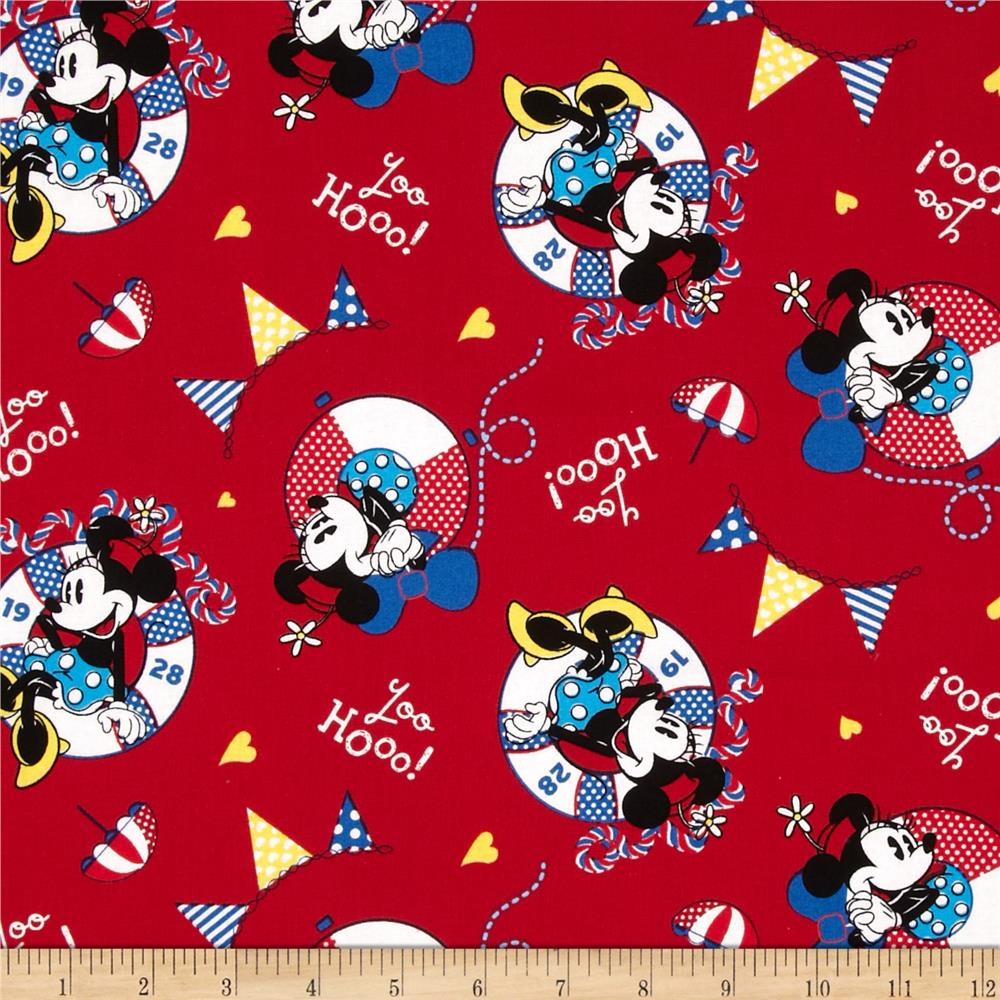 Disney Minnie Mouse In Life Preserver Red