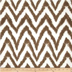 Premier Prints Diva Chevron Slub Italian Brown