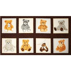 Love Me Teddy Bear Panel Multi Fabric
