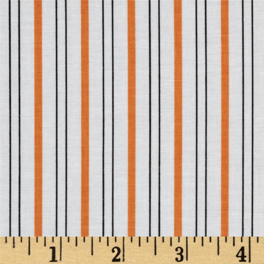 Citrus Thick & Thin Stripe Orange