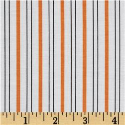 Citrus Thick & Thin Stripe Orange Fabric