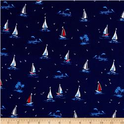 Michael Miller Yacht Club Sail On Navy