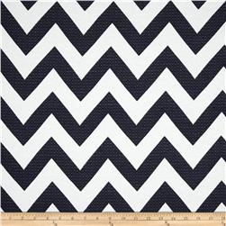 Waverly Chevron Chic Jacquard Navy Fabric
