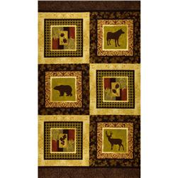 Northern Exposure Flannel Wildlife Panel Bark
