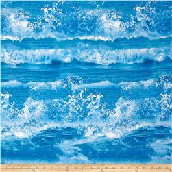 Ocean Avenue Ocean Waves Blue Fabric