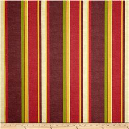 Maco Indoor/Outdoor Alvarado Stripe Chili Fabric
