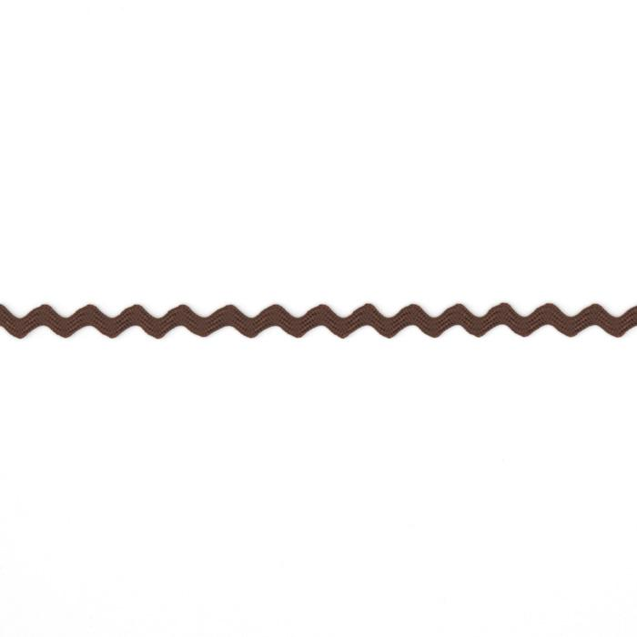 "1/8"" Ric Rac Rayon Mini Trim Brown"