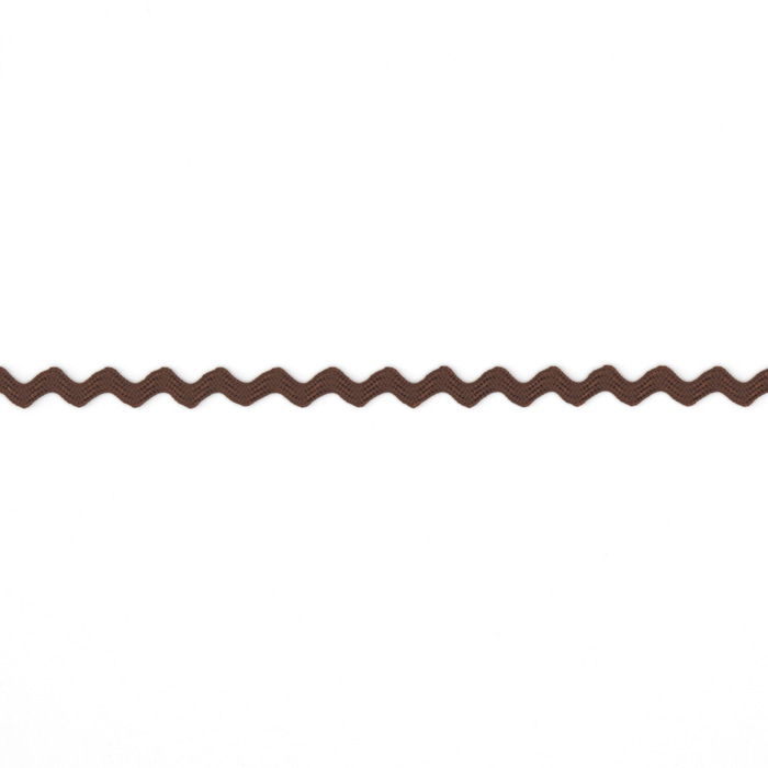 1/8'' Ric Rac Rayon Mini Trim Brown