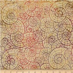Tonga Batiks Mulberry Snail Shells Dawn