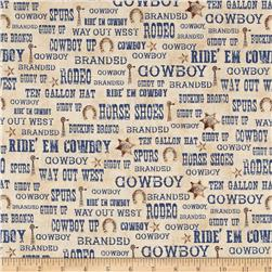 Ranch Hands Words Blue