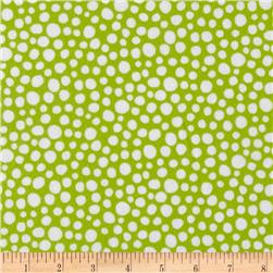 Michael Miller Flannel Little Spots Krytonite Green