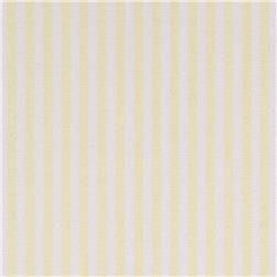 Kaufman Oxford Yarn Dyed Large Stripe Yellow Fabric