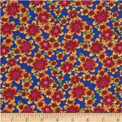 Newcastle Novetlies Summer Bouquet Blue Fabric