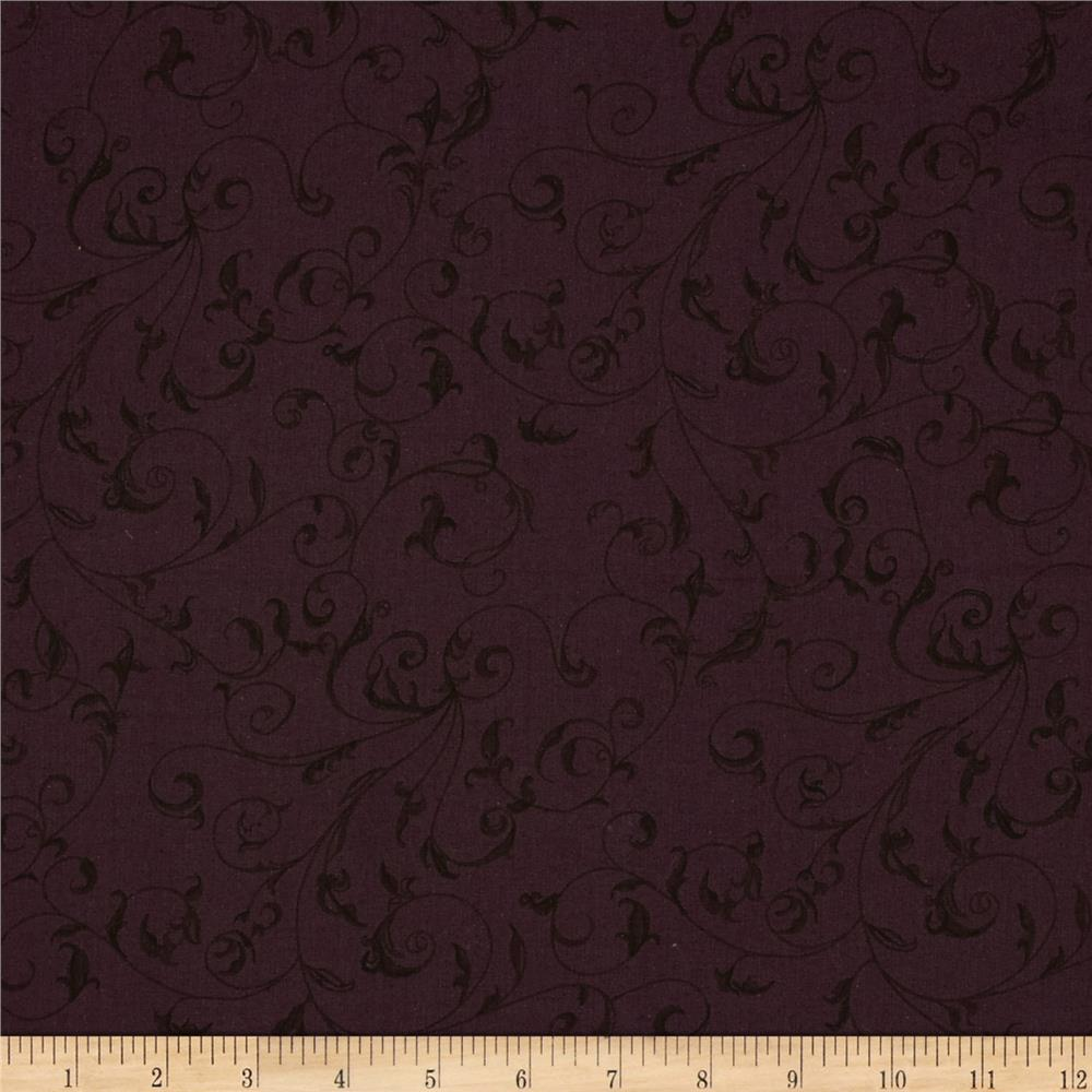 "110"" Wide Quilt Back Filigree Eggplant"