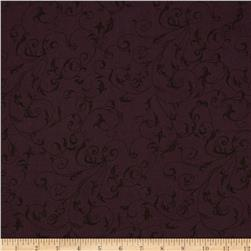 "110"" Wide Quilt Back Filigree Dark Purple"