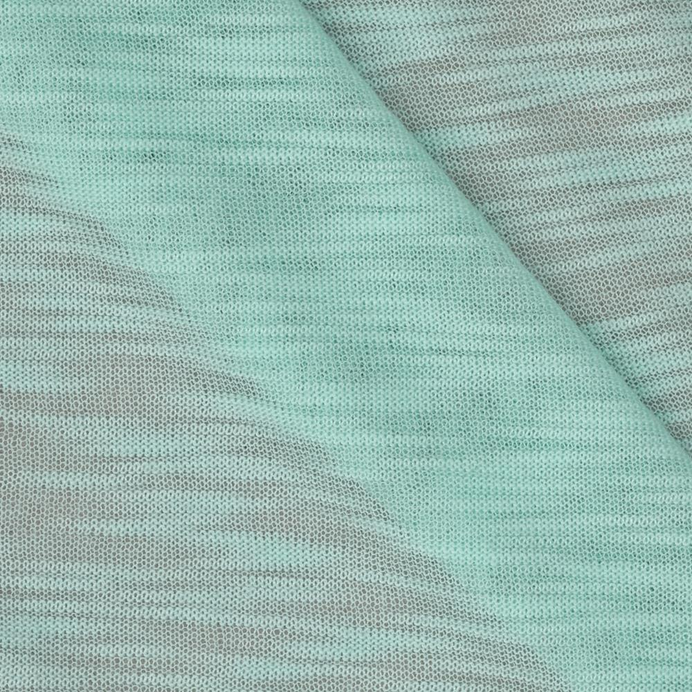 Sheer Rayon Slub Jersey Knit Cool Mint