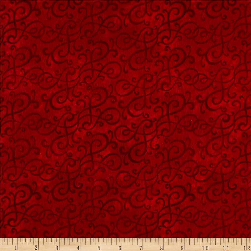 Flannel Scroll Scarlet