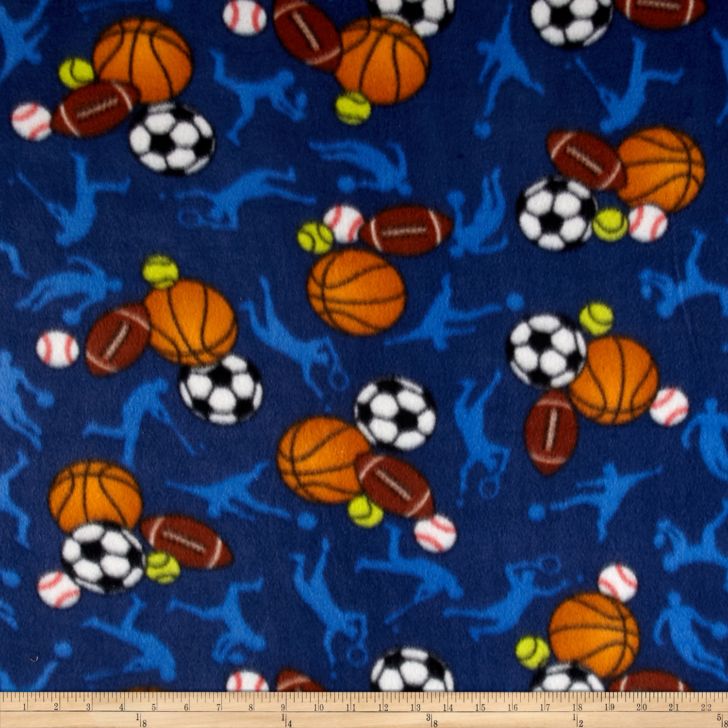 INOpets.com Anything for Pets Parents & Their Pets Polar Fleece All Sports Dark Blue Fabric