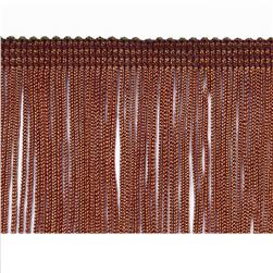 "2"" Chainette Fringe Trim Chocolate"