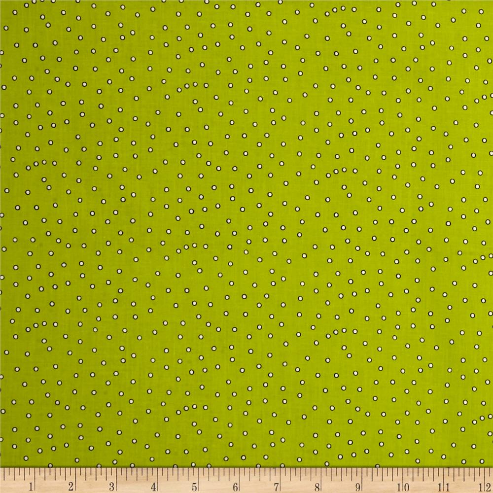 Loralie Designs Sew Fabulous! Dark Dots Lime