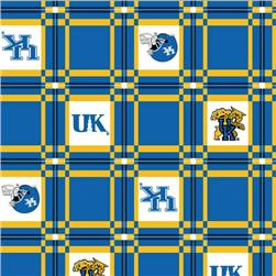 Collegiate Tailgate Vinyl Tablecloth University of Kentucky Royal Blue/White